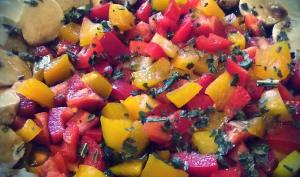 Salade poivrons mozzarella