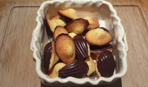 Madeleine à belle bosse et sa coque chocolat
