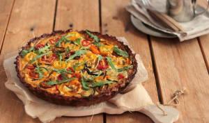 Quiche aux courgettes, fond de tarte aux pommes de terre