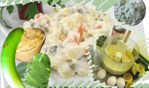 Mayonnaise à la biomasse de bananes vertes