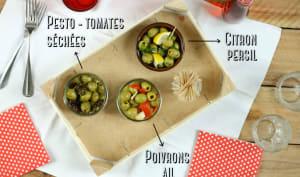 Trio d'olives pour l'apéro