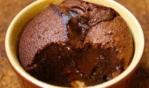 Gâteau au chocolat, sans gluten, prêt en 5 min