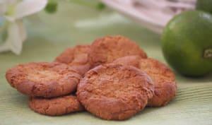 Biscuits à la pâte d'amande et au citron vert