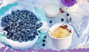 Crème brûlée aux myrtilles ou baies de Saskatoon