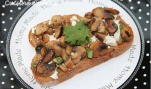 Bruschette aux champignons