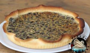 Quiche champignons fromage à l'ail aux escargots