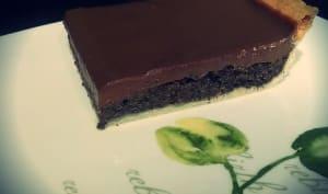 Tarte au pavot et chocolat praliné