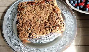 New-York style crumb cake aux myrtilles