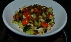 Salade de lentilles aux petits légumes
