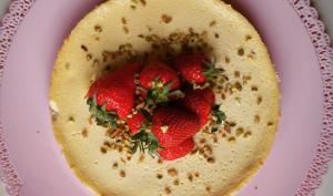 Cheesecake vanille et fraises