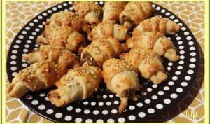 Croissants feuilletés à la tapenade