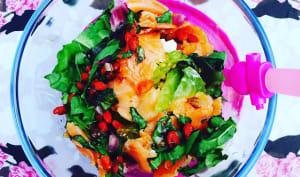 Salade gourmande de lentilles et truite fumée