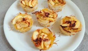 Tartelettes aux pommes Ariane en croûte de Kadaïf