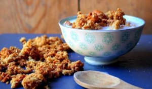 Granola maison miel amandes
