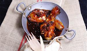 Cuisses de poulet laquées au miel