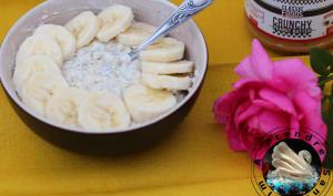 Flocons crémeux sans cuisson banane cacahuètes