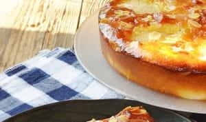 Gâteau poire, amandes, hysope