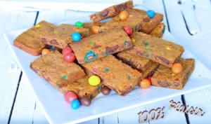 Cookies bars aux m&m's