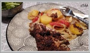 Cuisse de dinde à la moutarde cuite au four