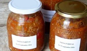 Conserves sauce salsa faritas