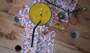 Velouté de potimarron et maxi courgette au mascarpone
