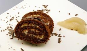 Biscuit roulé choco poire