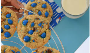 Cookies fourrés chocolat cacahuètes