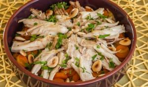 Raie aux carottes et amandes