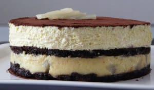 Entremets poires chocolat vanille