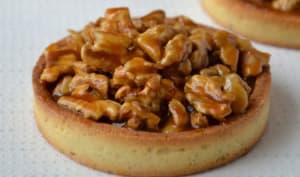 Tartelettes aux noix, caramel au beurre salé