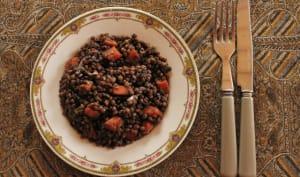 Lentilles aux carottes et vinaigre balsamique