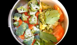 Curry vert de crevettes