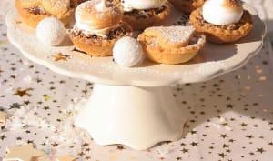 Mini tartelettes aux fruits confits, chapeau de meringue