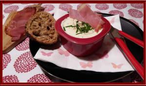 Oeuf cocotte à la crème de Roquefort