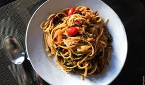 Bean pasta, pâtes aux haricots rouge