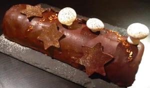 Bûche glacée au chocolat et à la vanille de Madagascar