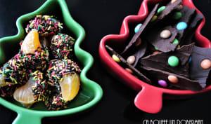 Clémentines chocolatées et chocolat aux smarties