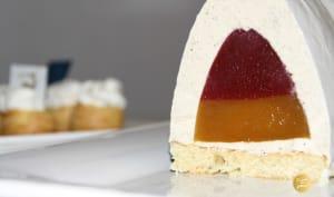 Bûche vanille fraise passion