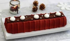 Bûche aux trois chocolats