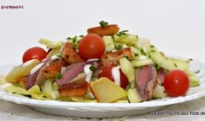 Salade fraîche aux filets de pigeon