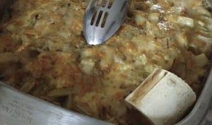 Cardons à la moelle, au lard et oeufs, cuisinés à l'ancienne