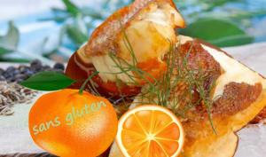 Poisson en sauce au jus d'orange, fines herbes et épices