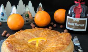 Galette à la frangipane de noisette et aux oranges confites