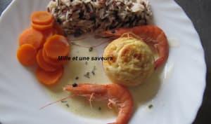 Mousses de Saint Jacques et son riz sauvage