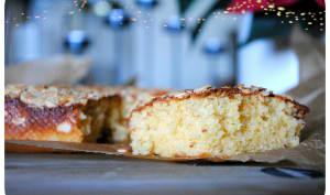Cake aux jaunes d'oeufs, cassonade et fromage blanc