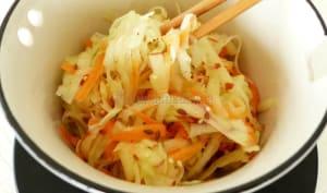 Salade de chou-rave, carotte et pomme