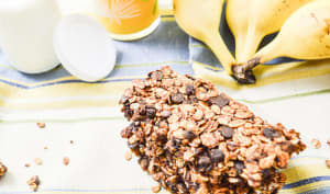 Barres de céréales chocolat banane