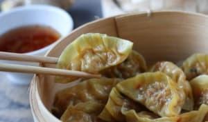 Jiaozi crevettes et chorizo