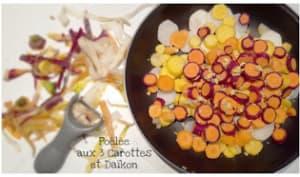 Poelée de carottes anciennes et Daïkon