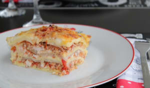 Lasagnes porc-poulet et céleri rave